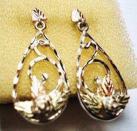 FANCY 12K GOLD & STERLING EARRINGS