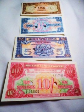 [4] WWII BRITISH MILITARY PAYMENT NOTES