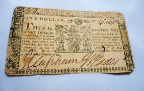 1774 MARYLAND $1 COLONIAL BANKNOTE
