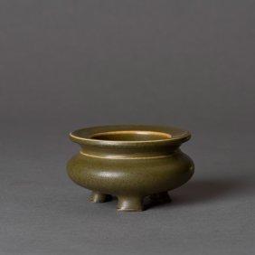 A Chinese Teadust-glazed Censer