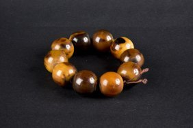 Large-bead Amber Bracelet