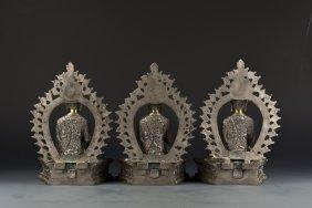 A Set Of Budda Statues
