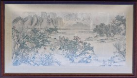 A Qing Style Painting Of Night Banquet