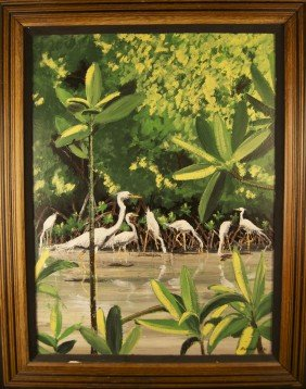 Rick Worth (20th Century) Original Oil On Board �Egr