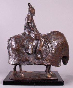 """Ann Taube Goodman (1905)  """"Pestilence"""", Bronze Scu"""