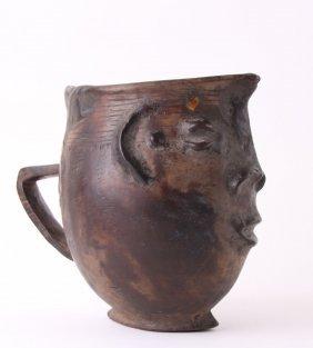 (1 Of 3) African Kuba Anthropomorphic Cup, Democratic