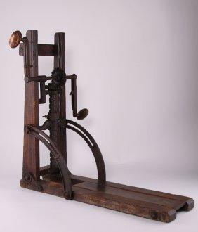 "Antique Drill Press, ""pat Jan 1872"". Size: See"