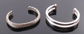 Two (2) Native American Sterling Silver Bracelets. One