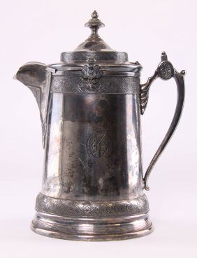 Reed & Barton, American Silver-plate Ice Water Pitcher