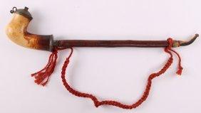 Antique Kalmasch (german Style) Carved Meerschaum Long