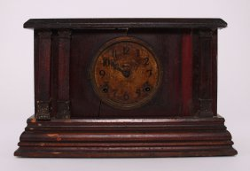"1885 Ingraham Mantle Clock, ""manufactured By The E. Ing"