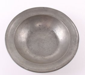 19th Century Colonial Pewter Bowl. Stamped… And