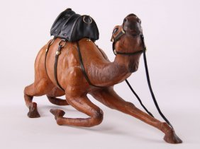 Beautiful Handmade Leather Desert Camel Dressed In