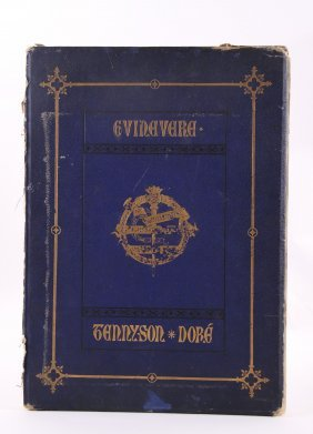 """Antique Book Of Etchings, 1867, Titled """"guinevere"""", By"""