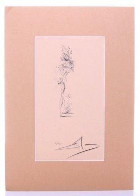 Salvador Dali (1904 - 1989) Lithograph Woman With Head