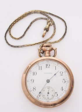 Vintage Waltham American Traveler Pocket Watch. Markin
