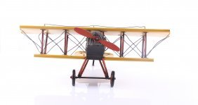 Vintage Wwi British Toy Model Airplane. Size: See Atta