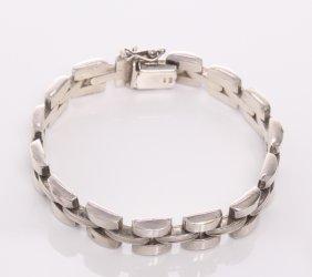 Italian Sterling Silver Link Bracelet. Markings: 925,