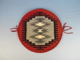 Two Round Navajo Weaving