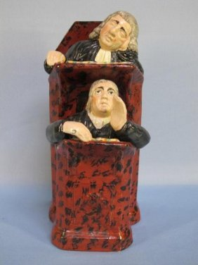 Staffordshire Group Of 'The Vicar And Moses'