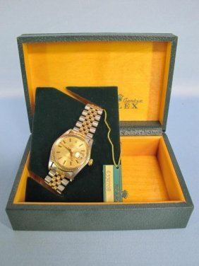 ROLEX Oyster Perpetual Datejust SS & Gold Men's