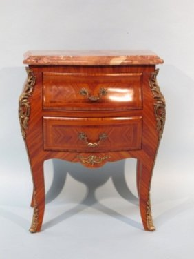 Small Louis XV Style Marble Top Commode