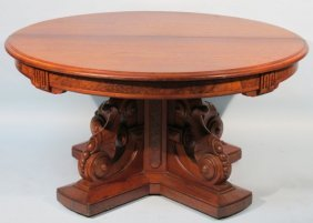 Victorian 1870's Walnut Round Table