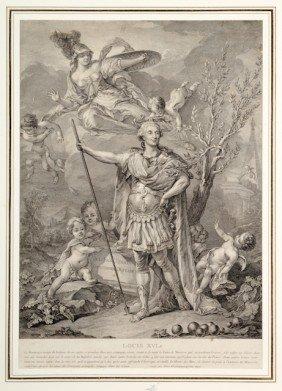 Louis XVI, Roi De France. Belle Gravure Sign�e Alibe