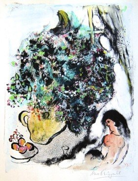 Marc CHAGALL, Hand Colored Original Lithograph, �Co