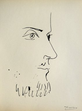 PABLO PICASSO, Signed Original Lithograph, Buffon,