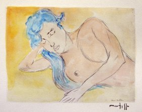 "HENRI MATISSE, Hand Colored Original Lithograph, ""De"