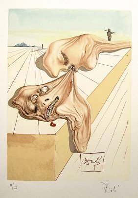 """Salvador DALI; Original Woodcut - Signed And Numbe"