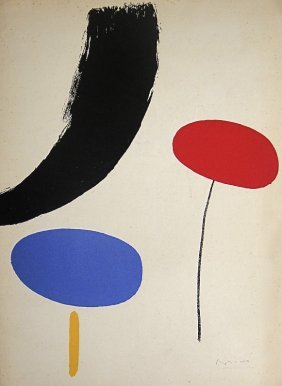 JOAN MIRO, Hand Signed Lithographie, 1954