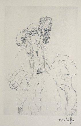 HENRI MATISSE, Hand Original Lithograph, Dessin, 192