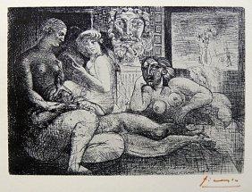 PABLO PICASSO, Suite Vollard, Quatre Femmes Nues Et
