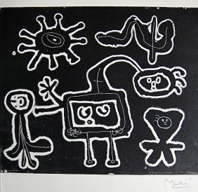 JOAN MIRO, Signed Lithograph, 1954