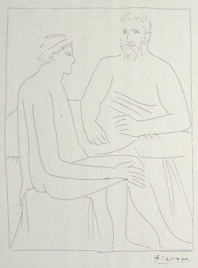 PABLO PICASSO, Signed Original Lithograph Les Metam