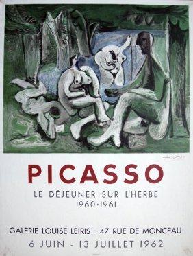 PABLO PICASSO, Original Hand Signed Lihtograph, Pos