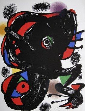 JOAN MIRO, Original Signed Lihtograph, 1976
