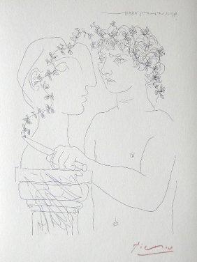 "PABLO PICASSO  Lithograph  ""Suite Vollard"""
