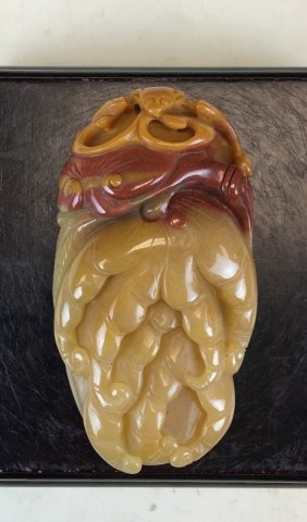Red Agate Carving