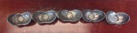 Set Of Chinese Silver Ingots
