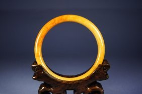 Chinese Antique Reddish Jade Bangle