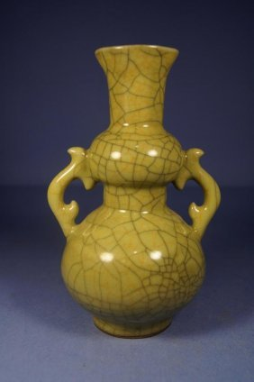 Chinese Antique Ge Type Double Gourd Vase