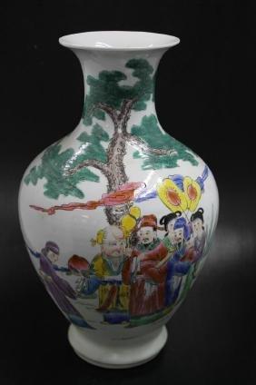 Chinese Famille Rose Porcelain Vase