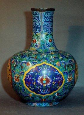 Large Chinese Cloisonne Vase