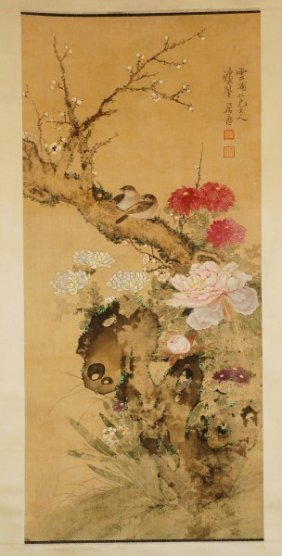 Chinese Painting --Bird And Flowers