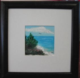 "Frances Liburt (20th-21st C.).  ""Beach,""  Acrylic O"