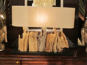 NEW, NEVER USED DESIGNER DRIFTWOOD LAMP FROM A HIG