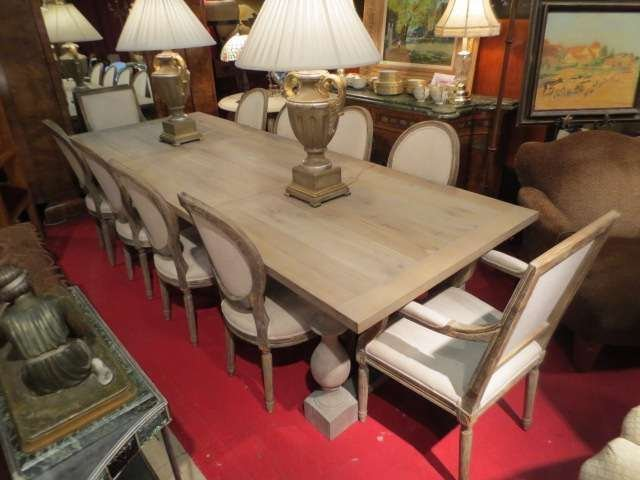 145 STUNNING NEW RESTORATION HARDWARE DINING TABLE AND  : 129355212l from liveauctioneers.com size 640 x 480 jpeg 40kB
